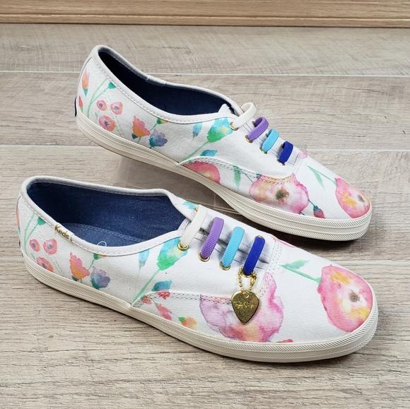 Keds Sneakers Taylor Swift Watercolor Flowers Hear